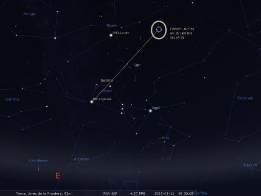 cometa lovejoy 20150111_1930